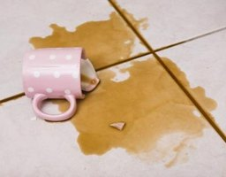 A mishap can result in a broken coffee cup handle.