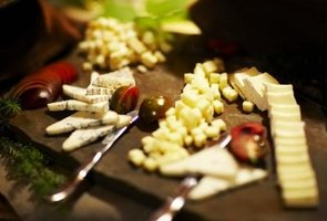 Western finger foods can involve a variety of ingredients, such as cheese.