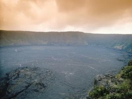Kilauea crater is the home of Pele and her lava.