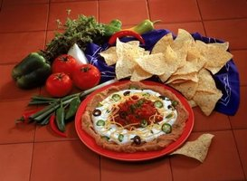 Leftover refried beans are easily transformed into bean dip.