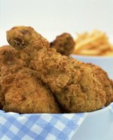 Fried chicken has flavorful breading.