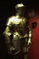 While most people think of an armored knight wearing a helmet like this, medieval helmets came in several styles.