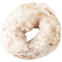 Powdered doughnuts are rolled in powdered sugar.