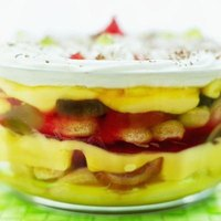 Variety in colors and textures makes the trifle attractive and exciting.