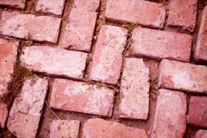 Brick Pavers in a Herringbone Pattern