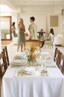Formal dinners require a program telling the guests when events will occur.