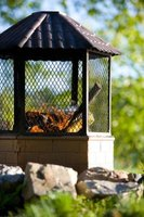 Exercise safety precautions when using a fire pit.