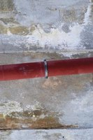 Red and blue Pex pipes can be used to indicate hot and cold water lines, respectively.
