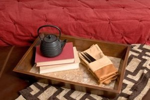 A wooden tray also makes a good catchall for unique items.