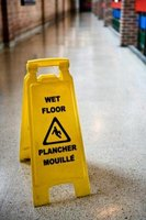 A simple wet floor sign can prevent industrial accidents.