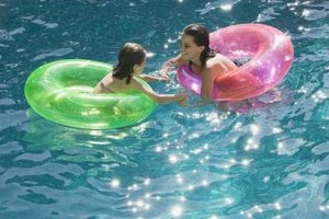 The water volume can vary greatly, depending on the pool size.