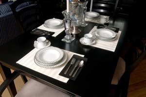 Use placemats directly on your table or over a tablecloth.