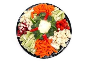 Vegetable trays are a mainstay at group functions.