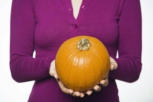 Smaller pumpkins are much easer to soften for baking.