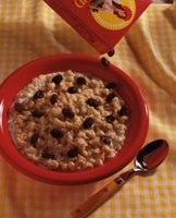 Add your favorite toppings to your oatmeal to customize your breakfast.