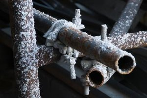 Cold weather can cause pipes to freeze and burst.