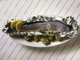 Baking or steaming rainbow trout is a convenient way to cook the fish.