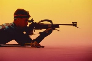 Rifle shooting stands can also be used for target practice.