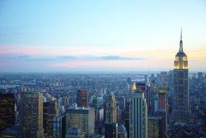 The Manhattan skyline. A symbol of New York.