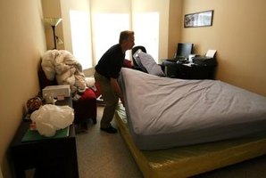 Professional pest control representatives can treat bed bug infestations using insecticides.