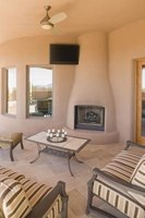 Kiva fireplaces are warm and eye-catching.