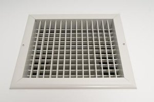 The size of duct being used determines the amount of air flow.