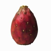 The bright red pitaya fruit has white or red pulp.