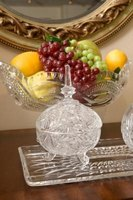 Make your crystal bowls part of your home's decor.