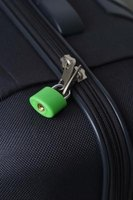 Combination luggage locks can be reset so that only you know the code.