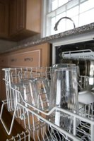 Overcrowding a dishwasher can cause clouding on glassware.