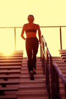 Climbing stairs helps tone and shape your lower body.