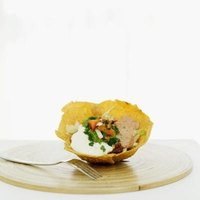 Serve savory sour cream dip at a party or special event.