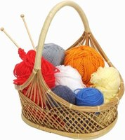 Hand-knitted dish cloths make a thoughtful gift.