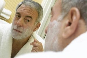 Trying to achieve a close shave can leave red patches on your skin.