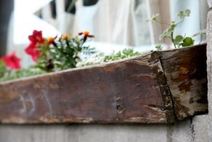 Planter boxes made from fence boards are an attractive addition to any garden.