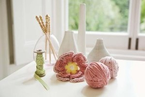Add a bit of whimsy with a crocheted flower.