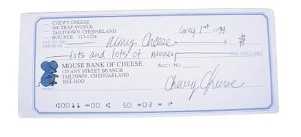 A typical bank check is composed of fields that have specific functions.