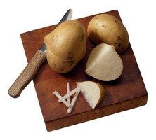 Jicama roots taste like apples and look like potatoes.