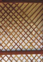 Lattice work is a decorative way of dividing spaces or hiding objects.