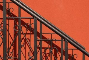 Wrought iron railings can enhance your home's exterior.