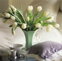 The elegance of tulips provides inspiration for homemade fabric flowers.