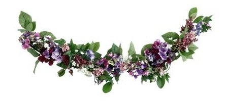 Floral swags are a popular choice for areas such as fireplace mantels.