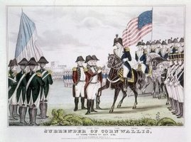American soldiers wore navy blue and white in the Revolutionary War.