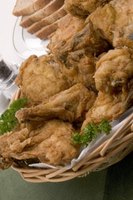 Fried bone-in chicken should have the same appearance as boneless chicken -- golden-brown exterior and crisp, light skin.