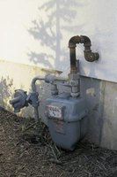 Gas meters tend to have the gas shutoff valve on them.