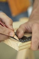 A framing square is a low tech carpentry calculator.