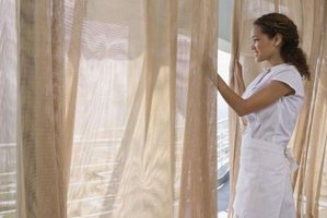 A temporary curtain gives you privacy.