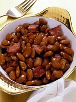 Brining beans helps them cook more quickly.
