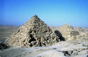 While the ancient Mesopotamians built ziggurats, the ancient Egyptians built real pyramids.