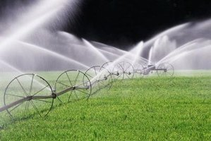 Standard lawn irrigation systems are comprised of easy-to-connect plastic parts and pipes.
